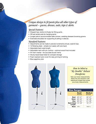 dritz  double deluxe dress form medium buy