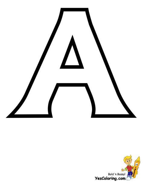 coloring letters standard letter printables free alphabet coloring page