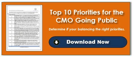 Top 10 Priorities For The Cmo Going Public Sbi