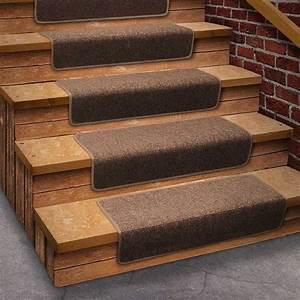 Self Stick Carpet Stair Treads Sapphire With Self Stick