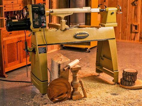 powermatic  wood lathe woodworkers journal