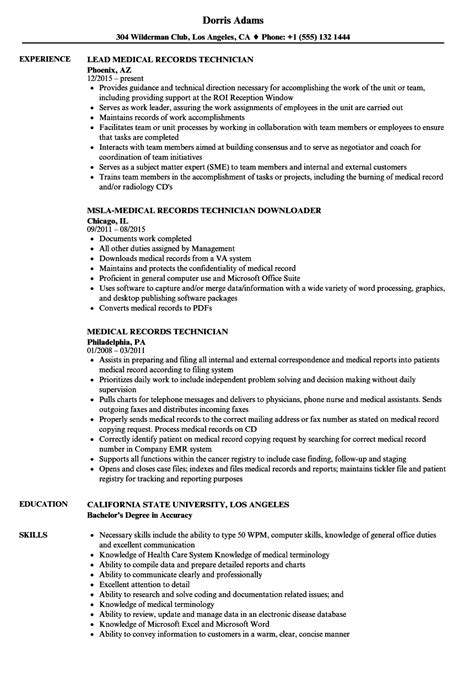 Medical Records Technician Resume Samples  Velvet Jobs. Resume Virginia Tech. Free Colorful Resume Templates. Download Resume For Electrical Engineer. Results Driven Resume Example. Film Crew Resume. Records Manager Resume. Resume Samples For College Students. Babysitting Duties Resume