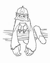 Coloring Croods Pages Print Draw Characters Clipart Dun Clip Step Gran Minor Monkey Cartoon Library sketch template