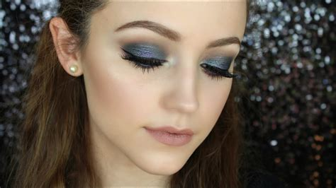 blue smokey eye makeup tutorial youtube