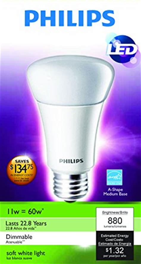 philips a19 dimmable led l philips 424382 11 watt a19 led household dimmable light