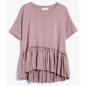 Top: clothes, dusty pink, blouse, tiered shirt, bohemian ...