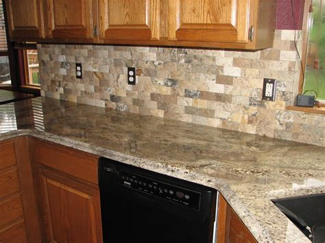 Granite Backsplash Photos : Natural Kitchen Decor With Captivating Stone Backsplash