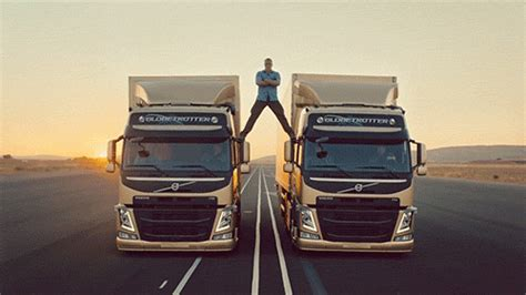 jean claude van damme volvo ad gif find share  giphy