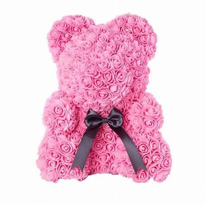Rose Bear Teddy Forever Petal Ribbon
