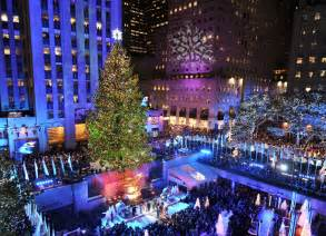 rockefeller center christmas tree lighting 2012 new jersey spruce lights up manhattan new