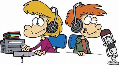 Radio Cartoon Jockey Dj Clipart Presenter Clip