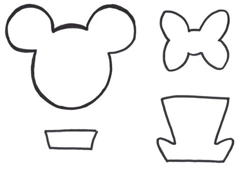minnie mouse ears template printable free printables mouse ears