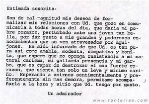 Carta de amor Tonterias