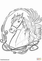 Coloring Nouveau Horse Pages Drawing Horses Mucha Alphonse Printable Line Fruit Arts Culture sketch template
