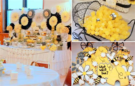 gender neutral shower themes what will it bee baby shower via karas party ideas karaspartyideas com gender reveal baby shower