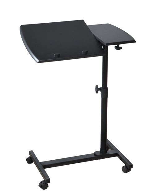 new adjustable angle height rolling laptop desk cart bed hospital notebook table ebay