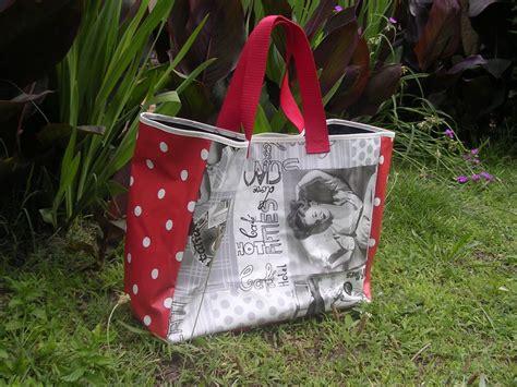 tuto sac cabas en toile ciree un cabas pour nathalie papouilles brins d herbe et cie