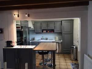 cuisine verone retro le poire sur vie With ouvrir la cuisine sur le salon
