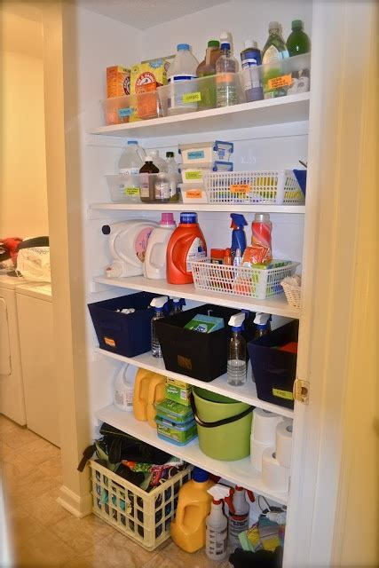 cleaning supply closet organizing and cleaning