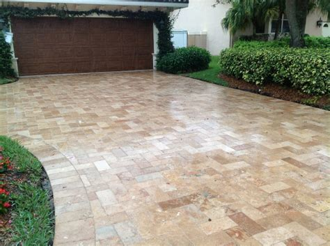 travertine pavers  seal exteriors   choice