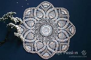 Crochet Stitch Chart Printable Pineapple Doily Free Crochet Pattern Craft