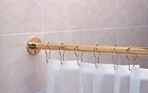 amazon com shower curtain rods solid brass 6 long brass