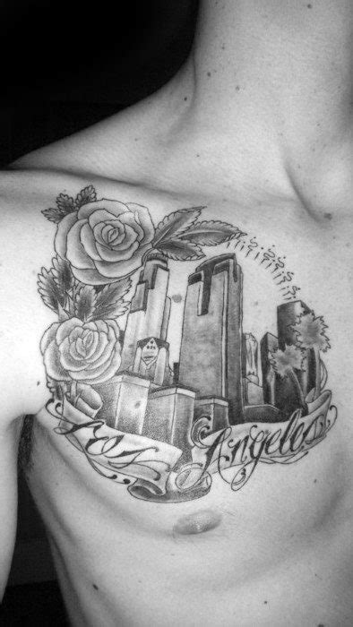 30 Los Angeles Skyline Tattoo Designs For Men - Southern