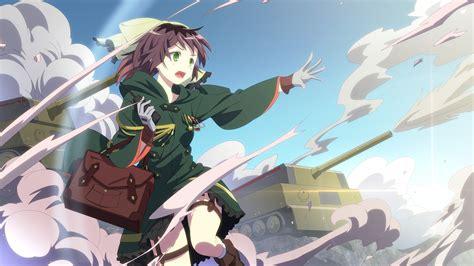 anime girls hair bows green eyes war wallpaper anime