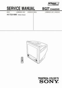 Sony Kv-tg21m80 Service Manual