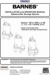 539762 2 Barnes Se L Sewage Pump Installation Manual