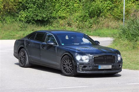 2019 Bentley Flying Spur Spied Testing With A Headless