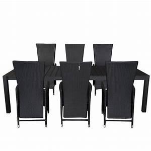 Rattansessel Für Draußen : 7tlg gartengarnitur gartentisch ausziehbar 205 275x100cm polywood tischplatte aluminium poly ~ Yasmunasinghe.com Haus und Dekorationen