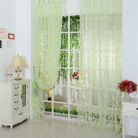 factory bargain drapes factory price fashion curtain leaf tulle voile door