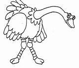 Coloring Colorear Colorir Dibujos Desenho Avestruz Avestruces Ostrich Gazoon Pintar A61 sketch template