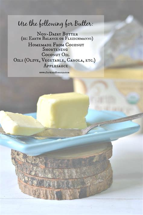 substitutes for butter dairy substitutions guide