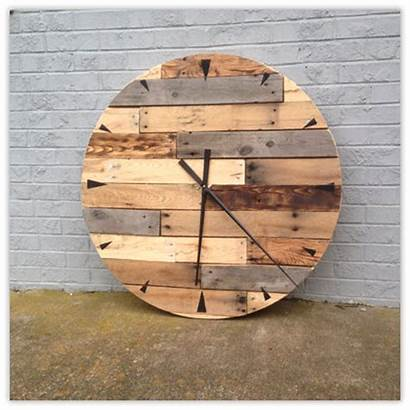 Wood Reclaimed Clock Materials Upcycled Usa Sustainable