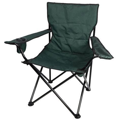 green deluxe folding outdoor cing arm chair seat new ebay