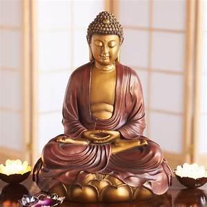 Hand Painted Shakyamuni Buddha Statue: DharmaCrafts