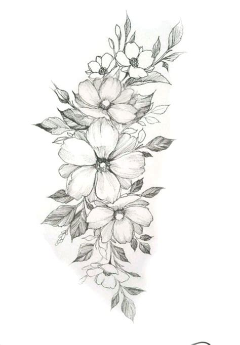 pin  jean quintero  dibujo flower wrist tattoos