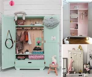 Armoire Chambre Enfant : dressing vintage pour chambre d 39 enfant joli tipi ~ Teatrodelosmanantiales.com Idées de Décoration