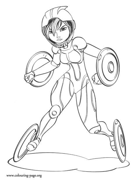 big hero  gogo tomago coloring page