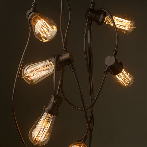 vintage edison 10 bulb party lighting 240v