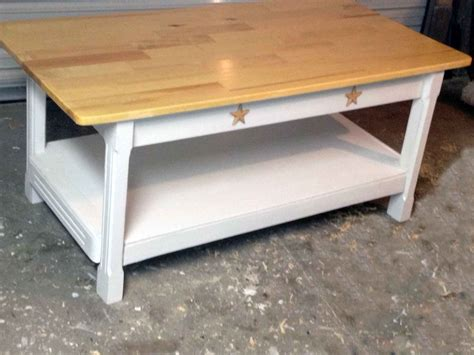 A rustic end table will be a nice addition to a country or a modern interior. Custom Country Style Coffee Table by All Solid Wood Furniture | CustomMade.com