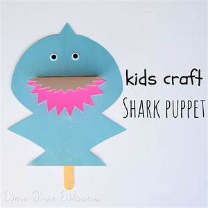 Kids Craft Shark Puppet (2) - Brie Brie Blooms