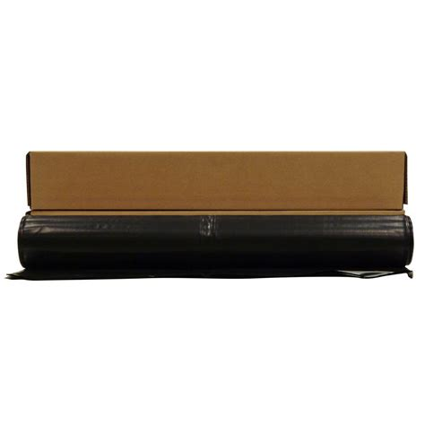 Plastic Sheeting Roll 4 Mil Medium Heavy Duty Black 4 Ft X