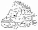 Truck Coloring Cartoon Dog Colouring Vehicle Budka Drawing Pagina Lorry Druku Kolorowanka Vrachtwagen Colorazione Autocarro Alimentare Illustrations Clip Samochody Kolorowanki sketch template