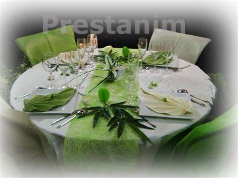 decoration mariage theme zen bambou table mariage vert