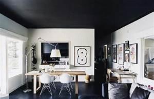 plafond colore pour changer l39aspect d39une piece With plafond peint en couleur
