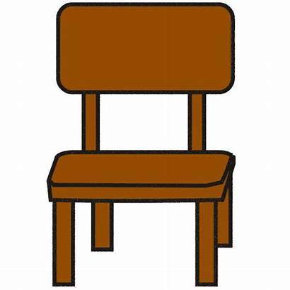 Chair Clip Clipart Chairs Table Cliparts Furniture