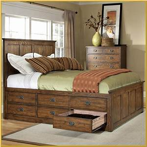 King, Size, Platform, Bed, With, Storage, Drawers